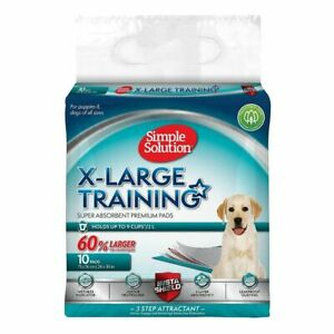 Dog And Puppy Training Pads Simple Solution Premium X-Large (10 Pads Per Pack)