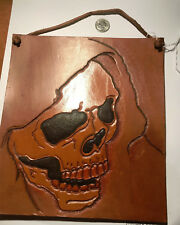 Art work Hanging ~ hand tooled leather Grimm Reaper
