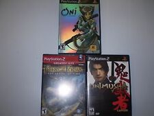 PLAYSTATION2 (3 GAME LOT)PRINCE OF PERSIA  ONI ONIMUSHA WARLORDS  USED UNTESTED