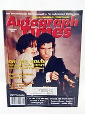 AUTOGRAPH TIMES February 2001 - James Bond Dan Marino Bill Blair Dr. Demento