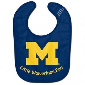 NCAA Michigan Wolverines Baby Infant ALL PRO BIB LITTLE FAN Blue