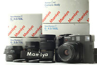 [CLA'D N MINT+++ in BOX] New Mamiya 6 Camera + G 50mm 75mm 150mm Lens from Japan