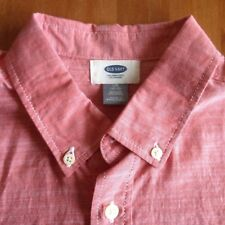 COMBINE SHIP: new-with-tags OLD NAVY shirt L (10-12), 100% cotton, pink & salmon
