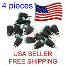4 pieces Speaker Wire cable to Audio Male RCA Connector Adapter Jack Plug Bose