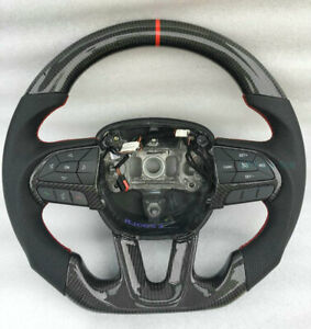 Carbon Fiber Steering Wheel For Dodge Charger Challenger (No Buttons Or Trim)