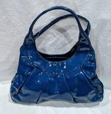 SIGRID OLSEN Deep Blue Patent Leather Hobo Shoulder Bag Purse