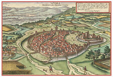 Novara Piedmont Italy bird's-eye view map Braun Hogenberg ca.1617