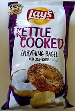 NEW Lays Kettle Cooked Everything Bagel with Cream Cheese Flavored Potato Chips