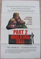 WALKING TALL PART 2 ORIGINAL FOLDED MOVIE POSTER 1975 BO SVENSON 27X41