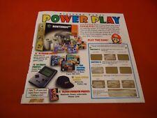 Nintendo Power Power Play Scratchoff Game w/ Trivia Super Mario 64 Final Fantasy
