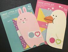 Rabbit & Duckie Letter Set - Kawaii Korean Stationery Cute Artbox Writing Paper