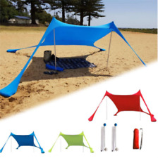 Portable Beach Waterproof  Awning Anti-UV Sun Shade Tent With Sandbag Anchors