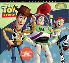 Walt Disney/Pixar Toy Story Movies 16 Month 2015 Wall Calendar #2 New Sealed