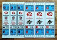 Cincinnati Reds 1987 NLCS World Series Ticket Sheet Unused Riverfront Stadium