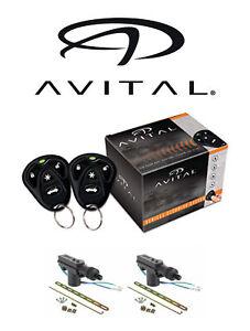 Avital 1 Way Security and Keyless Entry System + 2 Door Locks AV-3100L