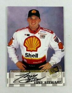 TONY STEWART RC 1998 PRESSPASS SIGNINGS SIGNED AUTOGRAPH ROOKIE CARD AUTO