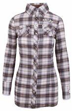 L' ARGENTINA Damen Long Bluse Shirt Größe 38 M St. Moritz Polo Club Kariert NEU