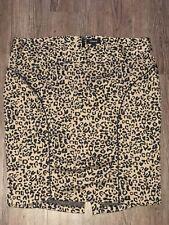 New Torrid Size 20 Cheetah Print Skirt Stretch Knee Length RN# 120684 Slimming