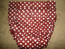Dependeco All In One PUL adult diaper S/M/L/XL  (burgundy polka dots)