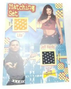 2001 Fleer WWF Lita & Jeff Hardy Matching Set Dual Event Worn Shirt RARE