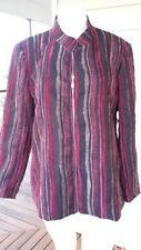 Susan Blake Red Multicoloured Zip up Front Jacket Size 22 With Tags