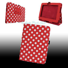 """CASE COVER STAND POUCH POLYURETHANE RED WHITE DOT FOR AMAZON KINDLE FIRE HD 7"""""""