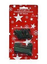 100 Gancho de bola para árbol de Navidad en 2 tamaños Percha rápida en verde