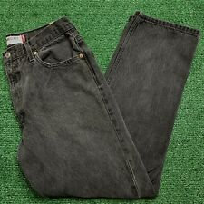 Levis Strauss 550 Jeans Relaxed Fit 36 x 32 Black Tapered Denim Red Tab USA