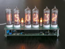 Nixie tube clock kit for IN-14 GPS, DST, battery backup. PCB and controller only