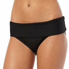 Next - Good Karma Banded Retro Bikini Bottom Black X-Small NWT
