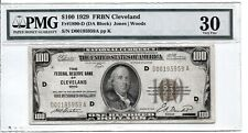 FR 1890-D 1929 $100 FEDERAL RESERVE BANK OF CLEVELAND PMG 30