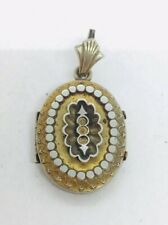 Antique Victorian Gold Filled Etruscan Locket Pendant