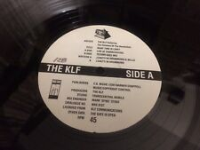 """THE KLF ft. THE CHILDREN OF THE REVOLUTION WHAT TIME IS LOVE    VINYL 12"""""""