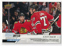 2019-20 UD GAME DATED MOMENTS #11 KIRBY DACH BLACKHAWKS ROOKIE FIRST GOAL