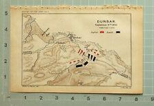 MAP/BATTLE PLAN DUNBAR SEPT 3rd 1650 ENGLISH SCOTCH BROXMOUTH BELHAVEN