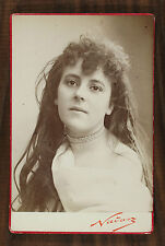Émilienne d'Alençon Comédienne Courtisane Photo Cabinet card Nadar Paris
