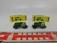 AQ934-0,5# 2x Schiebetrix/Minitrix Spur N 834 Güter-/Kesselwagen BP, NEUW+OVP
