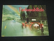 REVUE L AUTOMOBILISTE  N° 35  1974 RALLYE MONTE CARLO + SALON ALPHA AUTO