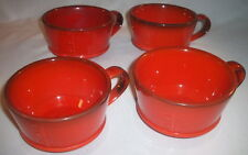 Metlox Pottery: ROOSTER: 4 Red Cups: EXC: NR