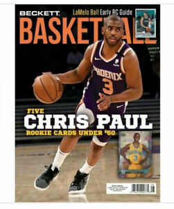 New August 2021 Beckett Basketball Card Price Guide Magazine With Chris Paul