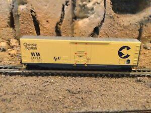 N Scale Micro trains 50' plug door boxcar WM CHESSIE SYSTEM NIB