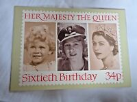 Royal Mail Post Card 60th Birthday Her Majesty the Queen PHQ 91c 34p