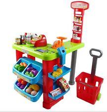 Children's Toy Super Market Cash Register w/ Shopping Cart & Sound PS80B
