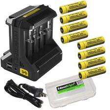 Nitecore i8 battery charger w/ 8 X 3400mAh 18650 Rechargeable 18650 Batteries
