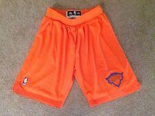 Authentic adidas NBA New York KNICKS Christmas Day Orange Swingman Game Shorts
