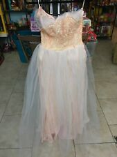 BABY DOLL GOTHIC PINK AND WHITE VINTAGE CRINOLINE DRESS GOWN NEEDS LOVE