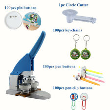 "HOT! New Pro 1"" 25mm Button Maker Machine Badge Press+Pin Buttons+Circle Cutter"