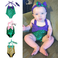 Kids Baby Girl Little Mermaid Bikini Set Swimwear Swimsuit Swimming Costume 6M-4