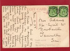 More details for castle combe pc 1923 2 x two mile hill  single circle postmark  bristol al307