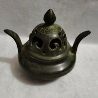 Collect China Dynasty Palace Temple rare Bronze carved Incense Burner Censer